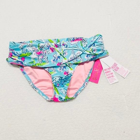 Lilly Pulitzer Lagoon Sarong Hipster Bottom
